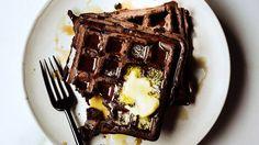 Dark Chocolate Waffles Recipe | Bon Appetit
