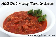 This HCG recipe is perfect if you have to cook dinner for a group of people because it is just like a spaghetti sauce. You can just eat the sauce, others can add noodles! http://hcgdietstore.com/