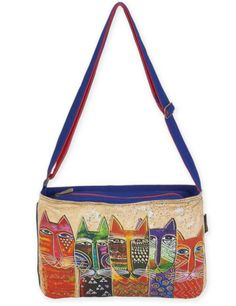 2b867591553 Laurel Burch Medium Crossbody Long Neck Cats Tote Handbags, Crossbody Bags, Tote  Bags,