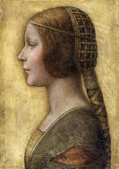 """This is a newly authenticated Leonardo sketch. It's called """"La Bella Principessa"""" and is supposedly of a 13 yo Bianca Sforza - daughter of the Duke of Milan... ~ The Gifts Of Life"""