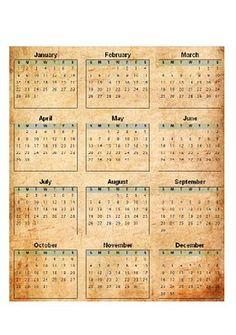 Calendar printable.