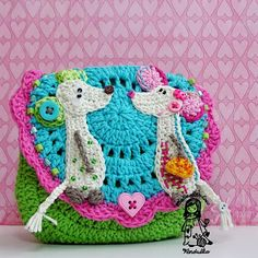 Spring love.  Adorable, bright, cheerful needlework by Vendulka Maderska.  http://vendulkam.blogspot.com/