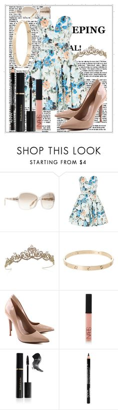 """Untitled #46"" by mariaclair ❤ liked on Polyvore featuring Tom Ford, TFNC, Schutz, NARS Cosmetics and Elizabeth Arden"