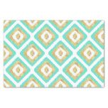 Gold & Turquoise Chic Ikat Pattern Tissue Paper #weddinginspiration #wedding #weddinginvitions #weddingideas #bride