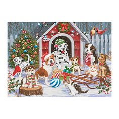 Gingerbread Christmas Decor, Retro Christmas Decorations, Christmas Arts And Crafts, Vintage Christmas Cards, Holiday Decor, Christmas Scenes, Christmas Animals, Canvas Home, House Canvas