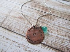Copper Be True Be Intentional Be Present Charm by lewsjewelry, $26.00