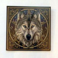 Lisa Parker Wolf Clock