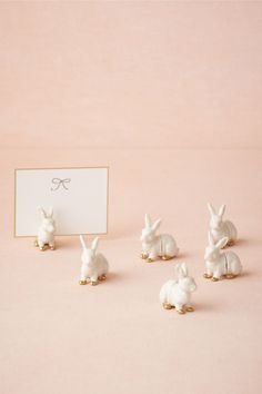 Bunny Place Card Holders (6) in Décor View All Décor at BHLDN