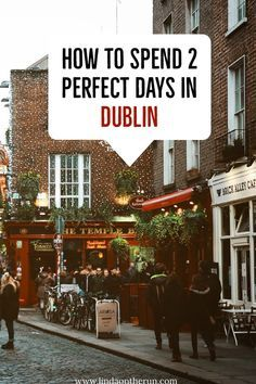 ireland travel This perfect 2 days in Dublin itinerary will walk you through planning your trip to Dublin in 2 days. Even with 48 hours in Dublin, there is so much to see Ireland Travel Guide, Dublin Travel, Europe Travel Tips, European Travel, Travel Destinations, Travel Goals, Ireland Destinations, Travel List, Paris Travel