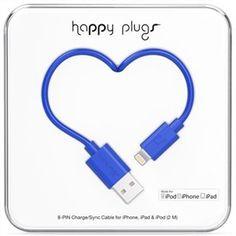 Happy Plugs Lightning Cable 2m - Cobalt Blue