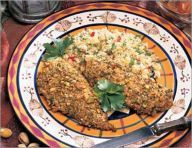 Chicken in a curry-pistachio crust 6 Points+