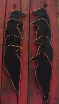 large primitive crow wood cutouts - Google Search