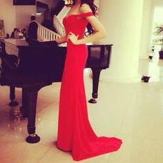 Sexy Off Shoulder Red Long Prom Dresses, Simple Formal Dresses, Red Evening Gowns / BeMyBridesmaid Simple Formal Dresses, Elegant Dresses, Strapless Dress Formal, Prom Dresses, Dress Long, Reception Dresses, Wedding Reception, Long Dresses, Bridesmaid Dress