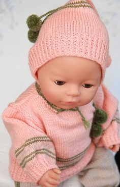 Gorgeous knitting patterns for 18 inch dolls in summery peach and beige Knitted Doll Patterns, Knitted Dolls, Baby Knitting Patterns, Baby Born Clothes, Girl Doll Clothes, Girl Dolls, Knitting Dolls Clothes, Crochet Baby Clothes, American Girl Crochet