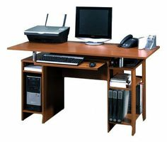 Bestar In-Style Computer Workstation (57400) by bestar. $189.99. This Bestar computer desk has a worksurface finished with melamine so that it resists scratches, stains and wears, and includes a slide-out keyboard shelf, 1 Adjustable shelf on bookcase section, a CPU compartment, and is ready to assemble.