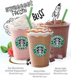 "Agh, say ""Half Off Starbucks Frappuccinos"" five times fast, then spell Frappuccino - YIKES! Once you do that, you can grab a Frappuccino at Starbucks for half Starbucks Frappuccino, Caramel Frappuccino, Starbucks Coffee, Coffee Cafe, Coffee Shops, Iced Coffee, Starbucks Products, Birthday Freebies, Ideas"