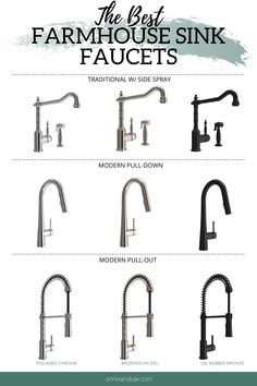 Best Farmhouse Sink Faucet Best ideas for your farmhouse sink faucets. Best Farmhouse Sink Faucet Best ideas for your farmhouse sink faucets. Shop the best faucets styles to work with your fa. Home Design, Küchen Design, Layout Design, Interior Design, Farmhouse Sink Kitchen, Modern Farmhouse Kitchens, Faucets For Farmhouse Sinks, Country Kitchen Ideas Farmhouse Style, Double Farmhouse Sink