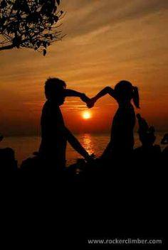 Sunset on junggelam beach..