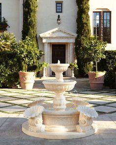 Galicia Fountain, Antique White - Neiman Marcus
