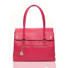 Pebbled Leather Top Handle Handbag