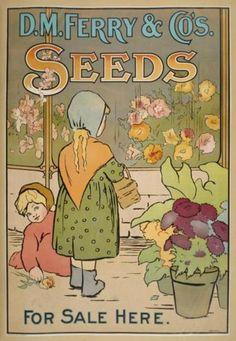 Vintage Seeds Arts and Crafts Digital Image