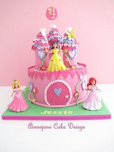 Disney Princess Castle Cake I think I could do this one Gracie