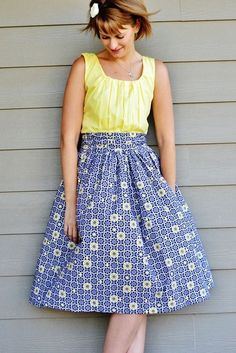 A Gathered Dress - This free dress pattern and long dress DIY makes a great addition to your summer wardrobe must-haves.