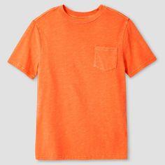 Boys' Garment Dyed Pocket T-Shirt - Cat & Jack, Boy's, Size: Medium, Orange