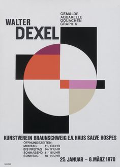 Walter Dexel - Kunstverein Braunschweig by Dexel, Walter Geometric Poster, Abstract Geometric Art, Abstract Logo, Abstract Posters, Poster Ads, Typography Poster, E Design, Book Design, Minimalist Graphic Design
