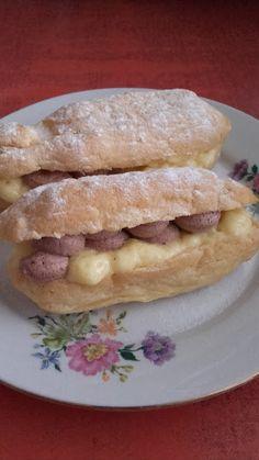 Eclair ( ekler fánk ) - ahogy én készítem Eclairs, Hot Dog Buns, Hot Dogs, Cobbler, Fondant, Pancakes, French Toast, Tacos, Bread