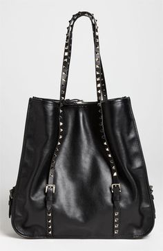 Valentino 'Rockstud' Leather Shopper available at Nordstrom Best Handbags, Luxury Handbags, Purses And Handbags, Valentino Bags, Valentino Rockstud, Valentino Dress, Shopper Tote, Satchel, Tote Bag