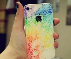 if you crack your phone, color with highlighter
