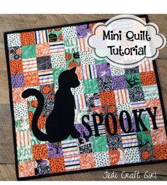 spooky mini quilt tutorial