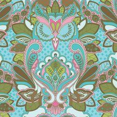 sweet owl fabric