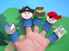 Pirate Finger Puppets Felt Finger Puppets by SoSimpleSoSweet, $19.00