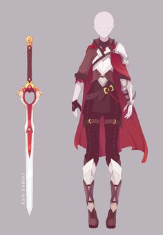 Outfit and weapon commission by epic-soldier warrior outfit, witch outfit, anime warrior Fantasy Character Design, Character Design Inspiration, Mode Inspiration, Character Art, Anime Outfits, Cosplay Outfits, Comics Sketch, Girls Manga, Warrior Outfit