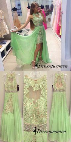 prom dresses, 2016 long prom dresses, mint green prom dresses, lace prom dresses with train