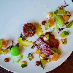 Artfully plated and incredibly tasty: Beef sashimi & tuna tartare at Koishi in Brno #CZFoodBev #Food #Travel #FoodTravel
