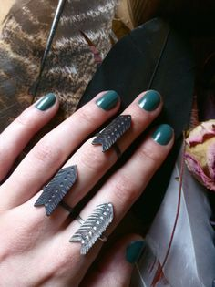Arrow Vane Shield Silver Chevron Stacker and Upper Knuckle Ring on Etsy, $40.00