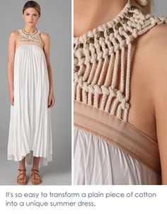 macrame detail on dress …