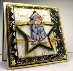 Cards by America: GRADUATION cards for ODBDSLC12 & House Mouse Monday Distress Challenge #69