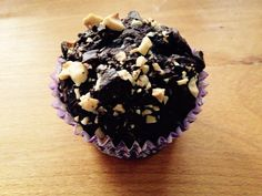 Vegan chocolate and hazelnuts muffin