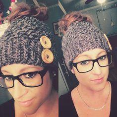Ravelry: Kaycee Ponytail or Bun Beanie Hat by Crochet by Jennifer