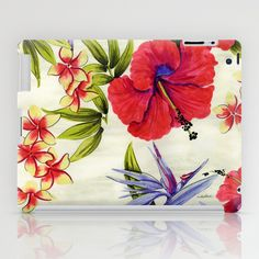 Paradise Party iPad Case by Vikki Salmela on Society6, #new #tropical #Hawaiian #floral #flowers #hibiscus #Bird of #Paradise #watercolor #art on #fashion #tech #accessories for #iPad #tablets #cases
