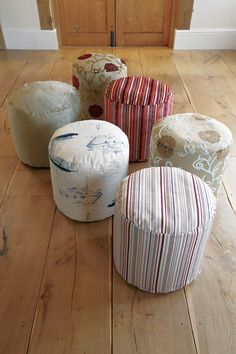 Add a touch of #colour to your #home with these #handmade #pouffes. Available in any #fabric