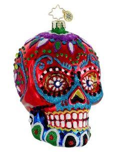 La Calavera (Sugar Skull) Radko Halloween Ornament