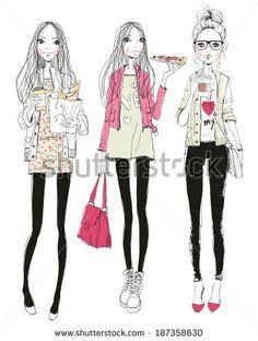 fashion girls  by Natalia Skripko, via Shutterstock