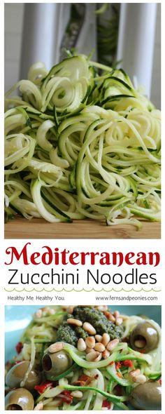 with my mediterranean zucchini noodles with vegan walnut pesto find ...