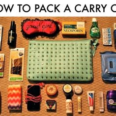 How to Pack a Suitcase Like a Flight Attendant...this is what my little bag looks like:) always ready!
