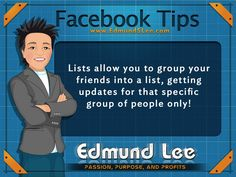 #FacebooTip : Are you using Facebook Lists yet? If not, I highly suggest you begin to do so! #facebook #socialmedia